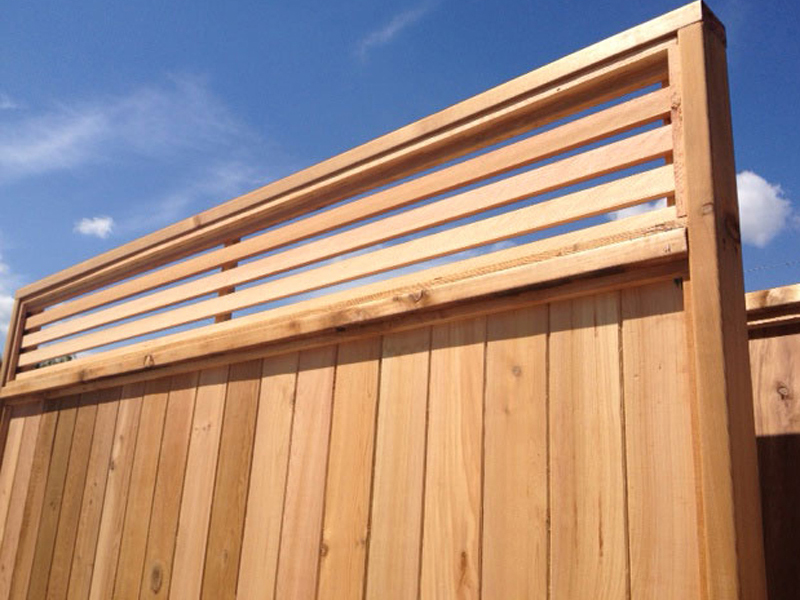 Venetian cedar fence panels big red