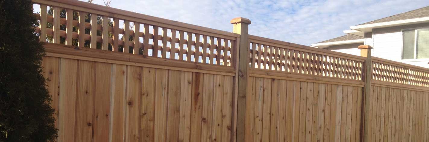 Square Lattice Cedar Fence Panels Big Red Cedar